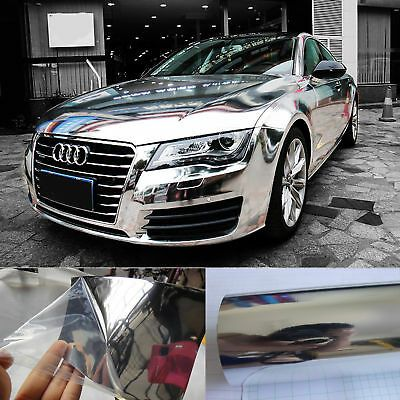 12 X 60 Cool Car Wrap Flat Glossy Mirror Chrome Vinyl Sticker Film Silver Hd In 2020 Car Wrap Cool Cars Car