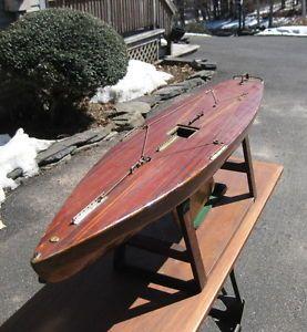 Antique Pond Model Ships Ebay Antique Vintage Huge Wooden Wood