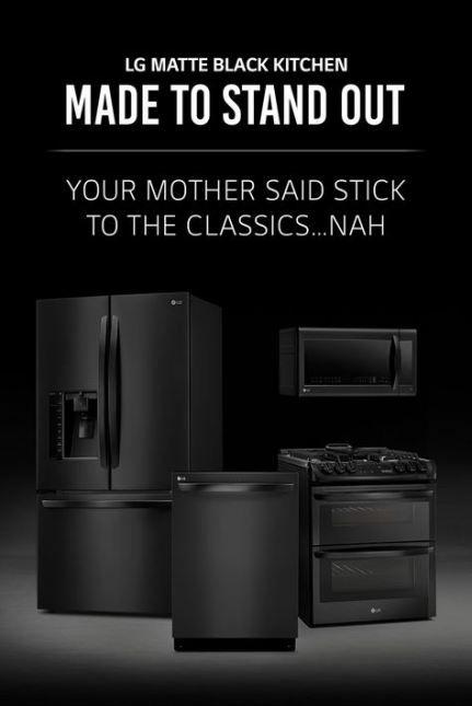 New House Decor Black Stainless Steel Ideas Black Kitchen Accessories Matte Black Kitchen Black Appliances Kitchen