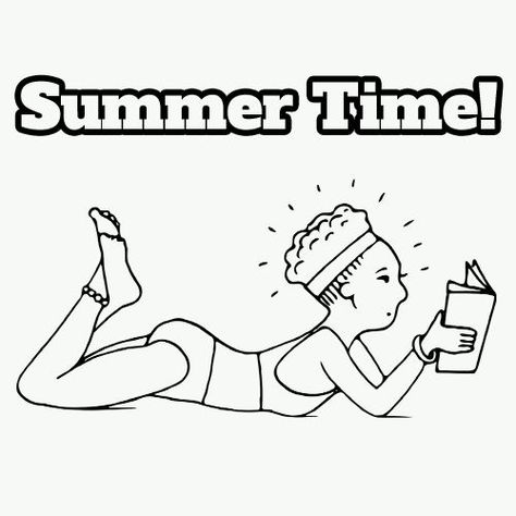 A free printable coloring page for kids! Summer Time