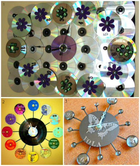 A new spin on old compact discs ... #CDclock