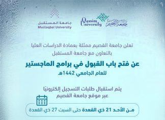 Qassim University Opens Admission To Postgraduate Studies For The Year 1442ah Postgraduate Studies Postgraduate Online Mba