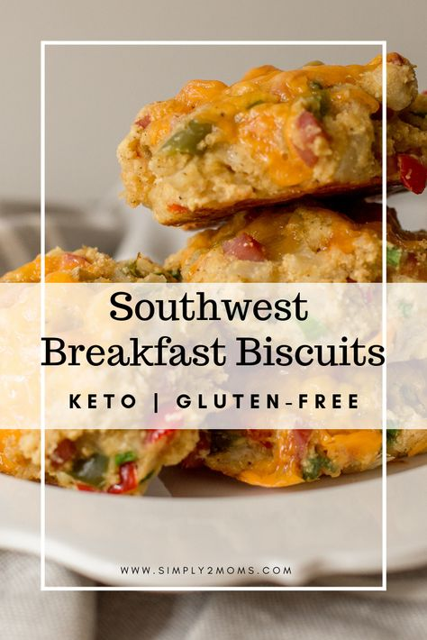 low carb southwest breakfast biscuits thm s recipe breakfast biscuits food recipes stuffed peppers pinterest