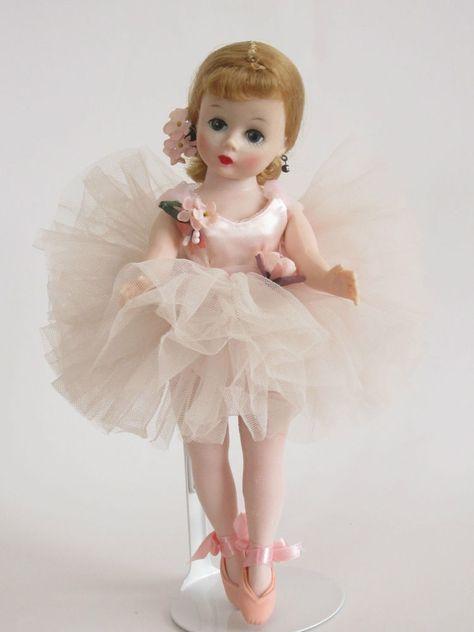 "Vintage Madame Alexander 9"" Cissette Blonde Ballerina #0914 1957 Tagged Tutu"