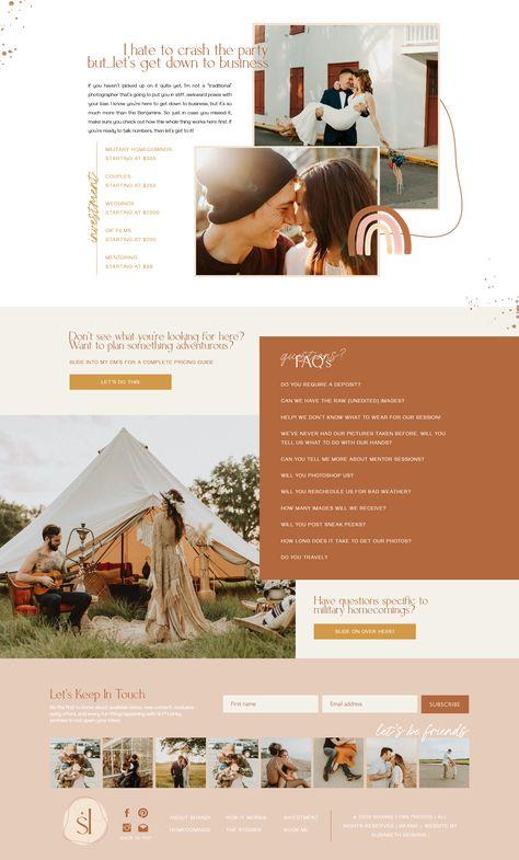 Boho Website Design