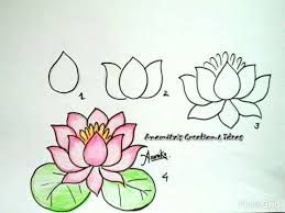 Chinese Flower Drawing Easy Google Search Easy Flower Drawings Flower Drawing Easy Drawings