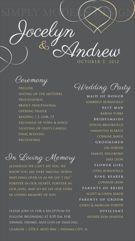New Wedding Invitations Simple Ceremony Programs 52 Ideas Wedding Ceremony Programs Order Of Wedding Ceremony Wedding Programs