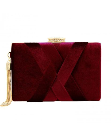Red Small Leather Clip Top Coin Purse 788