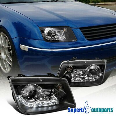 Ad Ebay For 1999 2004 Vw Jetta R8 Style Led Loop Projector Headlights Black Vw Jetta Projector Headlights Headlights