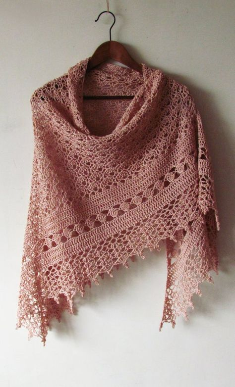 Crochet Powder Shawl Summer Cotton Shawl Hand Knit Woman | Etsy