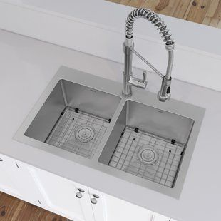 Akdy 32 X 22 Drop In Kitchen Sink With Basket Strainer In 2020 Drop In Kitchen Sink Sink Top Mount Kitchen Sink