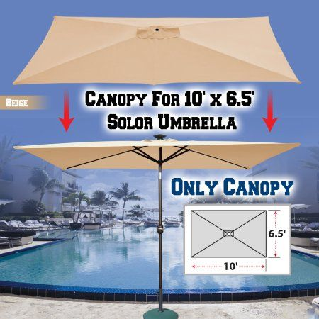 Strong Camel Replacement Umbrella Canopy for 10ft x 6.5 ft 6 ribs Patio Umbrella Top Cover & Strong Camel Replacement Umbrella Canopy for 10ft x 6.5 ft 6 ribs ...