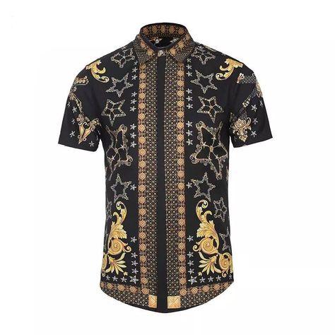 3a0ed89c2dd7 Royal Star Flair Shortsleeve Button Up  mens  menswear  baroque  royal   mensfashion