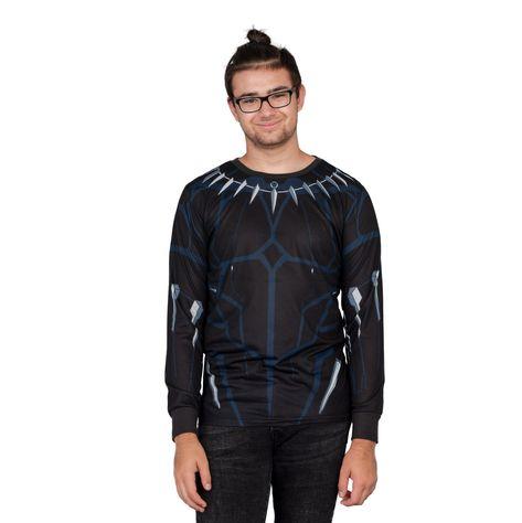 Marvel Comics Black Panther Long Sleeve T-shirt - XX-Large
