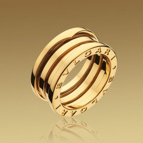 Bvlgari B ZERO1 18K yellow gold 3 band ring $55