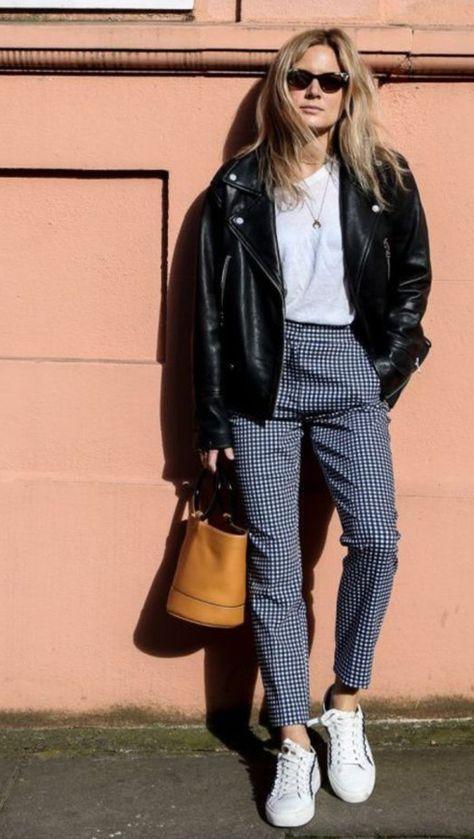 Como usar jaqueta de couro no look de trabalho