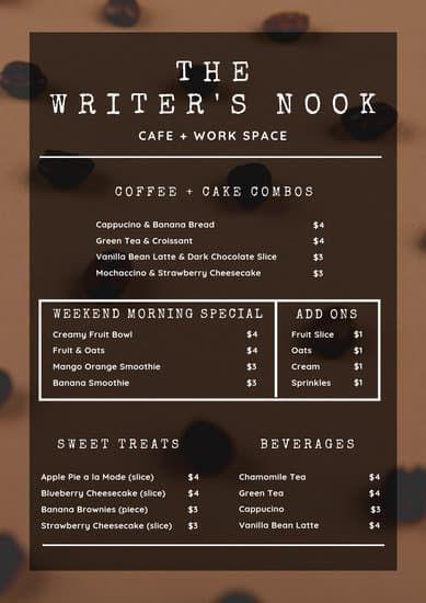 Mint Coffee Shop Menu Templates By Canva Black And White Coffee Coffee Shop Menu Coffee Flatlay