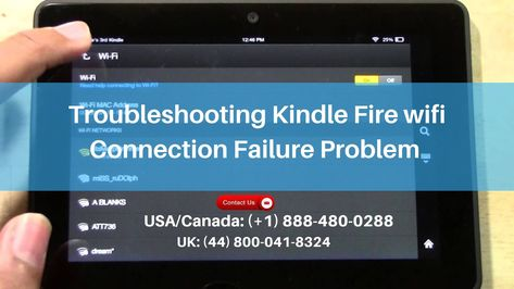 Connect Kindle to Wifi Network – Call +1 888-949-4666