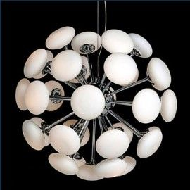 Dtemple European Modern Style LED Acrylic Chandeliers Ceiling Light Lamp with 5 Lights for Hallway Dining Room Bedroom