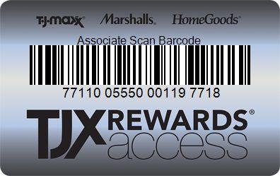 TJX Rewards® Access Reward card, Rewards, Cards