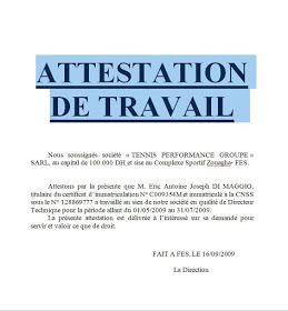 Attestation De Salaire Algerie Word Doc Words