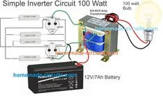 7 Simple Inverter Circuits You Can Build At Home Circuit Projects Electronics Circuit Circuit