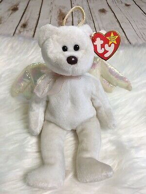 Halo Beanie Bear Value : beanie, value, Angel, Errors, Wings, Beanie, Collectors, Retired., Babies, Worth,, Babies,, Value