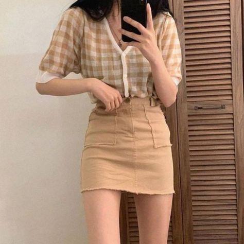 Woman casual wear ideas style fall 2020 gentle k-pop amazon tiktok highschool