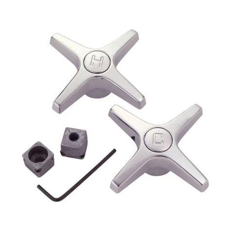 Brasscraft Universal Cross Chrome Zinc Faucet Handles For