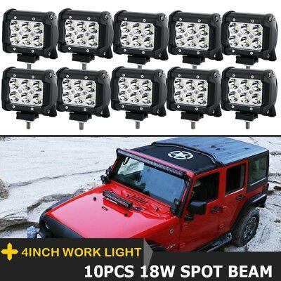 CREE LED Work Light Bar Offroad Roof Light Rack Bumper Lamp 12V 24V Spot Flood