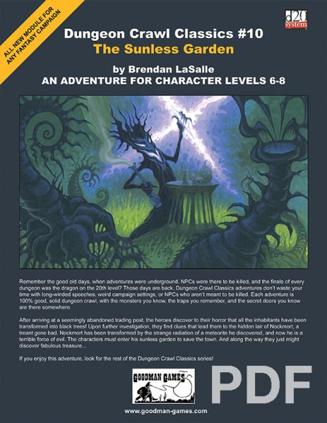 Dungeon Crawl Classics #10: The Sunless Garden – PDF