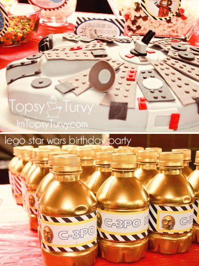 Lego Star Wars birthday party- fun foods, labels and activities
