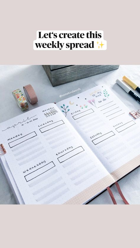 Let's create this  weekly spread ✨