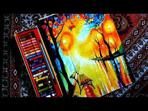 Oil Pastel Drawing How To Draw How To Draw With Pastel Abstract Art Dramatic Scene Drawing Yout Oil Pastel Drawings Oil Pastel Paintings Oil Pastel