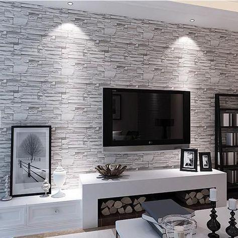 Die Besten Tapetenideen Fur Das Wohnzimmer Fertig Kann Sie Inspirieren Interior Brick Wallpaper Living Room Best Living Room Wallpaper Brick Living Room