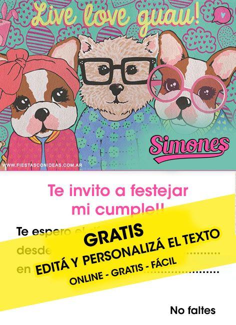 Tarjeta De Cumpleaños De Simones Para Personalizar Y Editar
