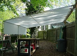 Learn how to make and install a retractable patio shade screen; includes details on working with shade screen grommets and wire cable. & Learn how to make and install a retractable patio shade screen ...