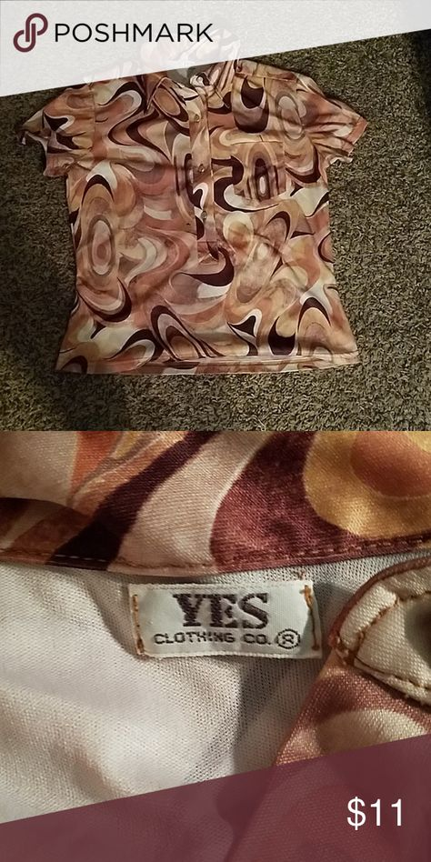 Yes Co. Retro Shirt Like new condition snap closure.size tag missing it measures from armpit to armpit. Yes Co.
