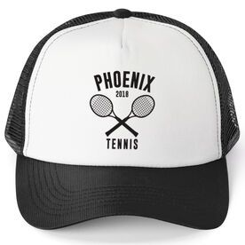 Tennis Trucker Hat Team Name With Curved Text In 2020 Tennis Team Gifts Tennis Team Trucker Hat