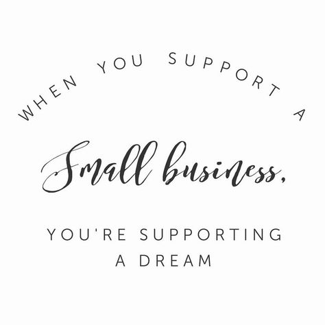 When you support a small business you're supporting a dream! 💜