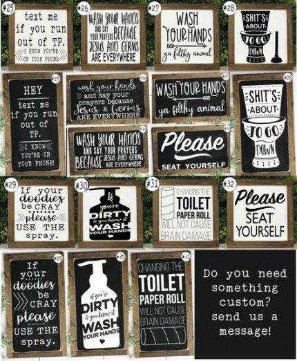New Bath Room Diy Signs Funny 35 Ideas Funny Bathroom Signs Bathroom Humor Bathroom Signs