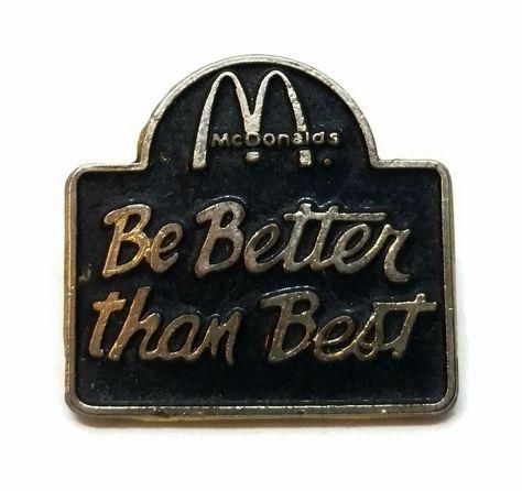 McDonalds Golden Arch Logo Metal//Enamel Belt Buckle