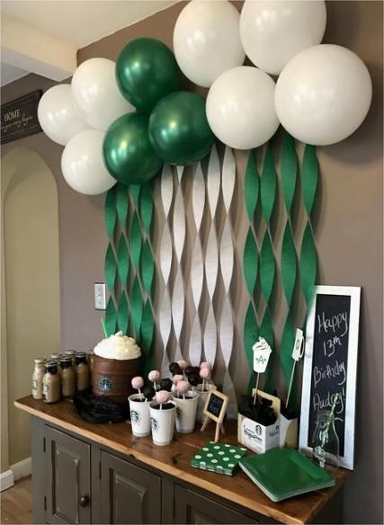 37 Ideas Birthday Party Ideas 17th Boy For 2019 16th Birthday Party Starbucks Party Starbucks Birthday