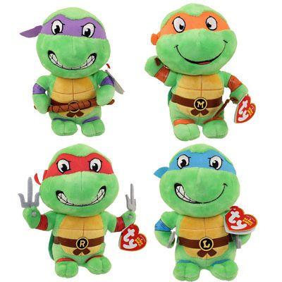 """Ty 9/"""" MEDIUM Beanie Baby Teenage Mutant Ninja Turtles RAPHAEL MWMT/'s Heart Tags"""
