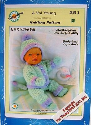 Dolls knitting pattern no 263 for Annabell by Val Young