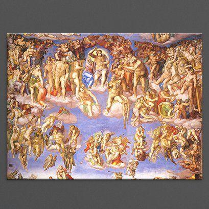 Michelangelo Jüngstes Gericht I Kunstdruck Alte Meister