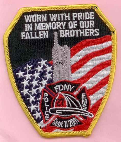 EMT EMS PARAMEDIC 9//11 WTC FALLEN BROTHERS PATCH