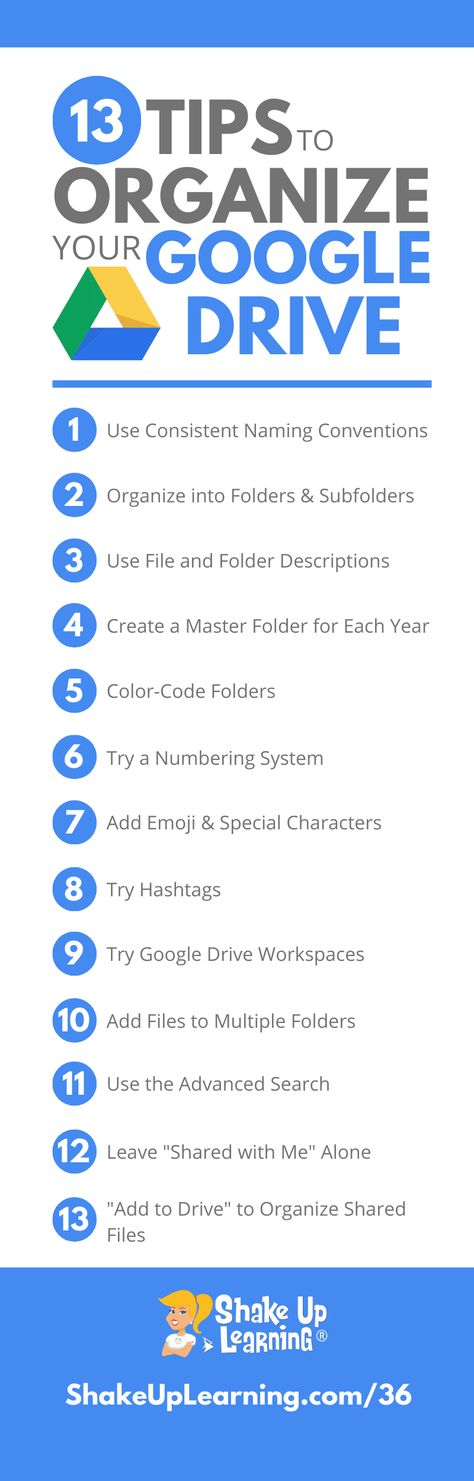 13 Tips to Organize Your Google Drive