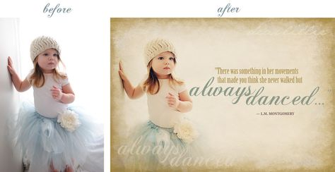 Here is a great tutorial on how to use photoshop like a pro for family photos, invites, etc.