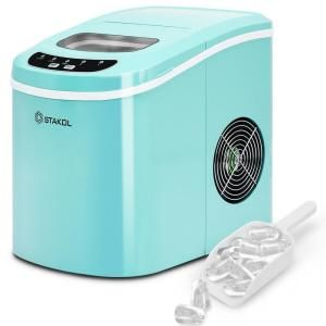 Stakol 26 5 Lb Portable Compact Electric Ice Maker In Mint Green